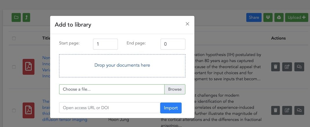 Choose documents to upload